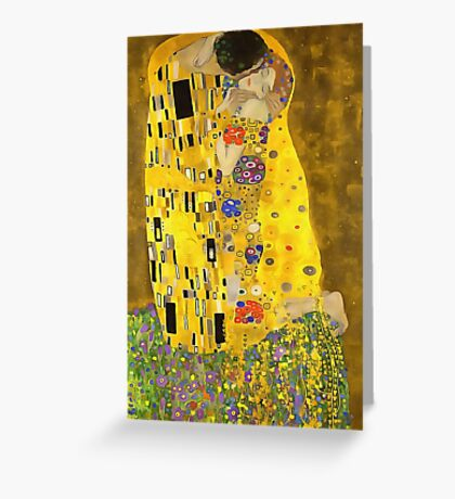 The Lovers Kiss After Klimt Greeting Card