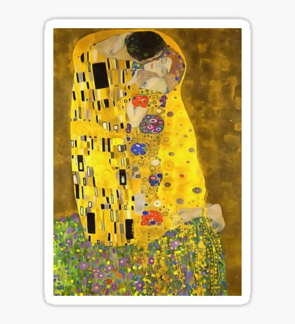 The Lovers Kiss After Klimt Sticker