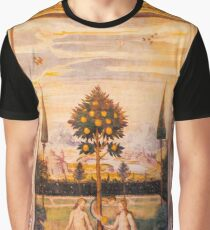 Adam and Eve Oil Painting Graphic T-Shirt
