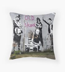 Banksy, Old Skool, London Throw Pillow