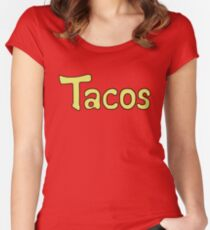 Krillin Tacos Women's Fitted Scoop T-Shirt