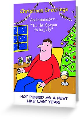 Christmas Card - 'Tis The Season To Be Jolly by Nigel Sutherland