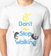 Don't stop walking buen camino Slim Fit T-Shirt