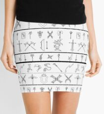 League of Weapons (Skirt/Scarf in white) Mini Skirt
