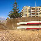 Boats on a Wellington Wall by Linda Cutche