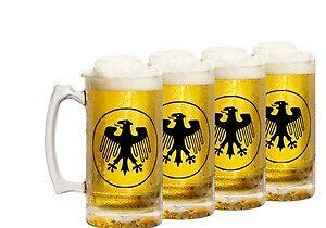 German Eagle Beer Stein 4 Pack by dasfenster
