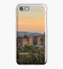 Sunset over Edinburgh Skyline iPhone Case/Skin