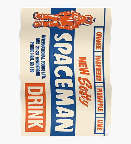 Spaceman Drinks Poster 1970s Poster