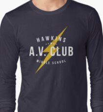 Hawkins A.V. Club (aged look) Long Sleeve T-Shirt