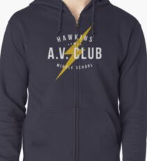 Hawkins A.V. Club (aged look) Zipped Hoodie