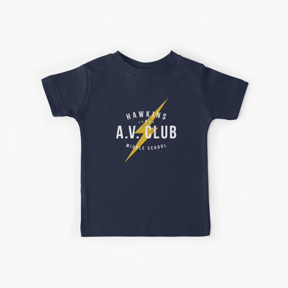 Hawkins AV Club (gealterter Look) Kinder T-Shirt