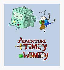 Adventure Timey wimey Photographic Print
