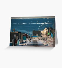 Street in Ilulissat, Greenland Greeting Card