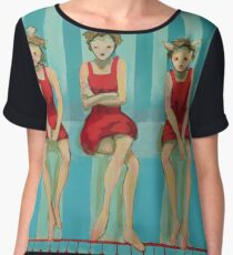 5 Little Red Riding Hoods 3/3 Chiffon Top