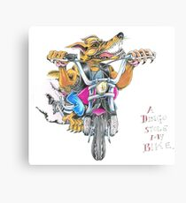 A dingo stole my bike RH Canvas Print