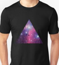 Purple Galaxy Triangle T-Shirt