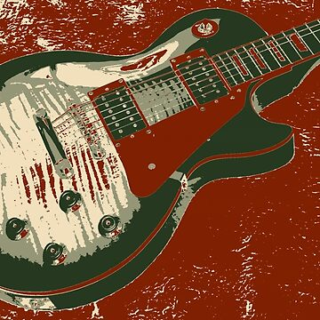 Les Paul Artwork - Red by funprints