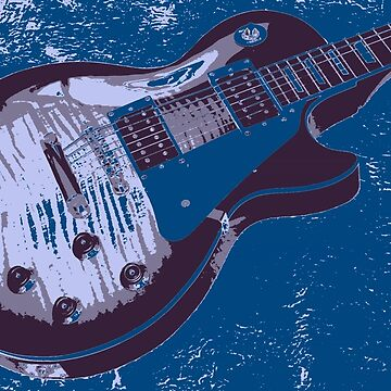 Les Paul Artwork - Blue by funprints