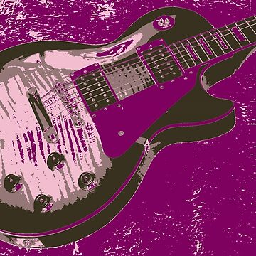 Les Paul Artwork - Purple by funprints