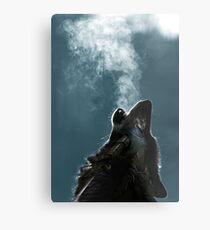 Knight Artorias - The Wolf And The Abyss Metal Print