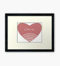 doodle lace heart  Framed Print