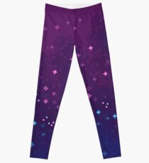 Bi Pride Flag Galaxy (8bit) Leggings
