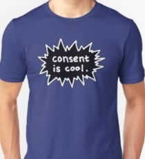 Consent is Cool Comic Flash Black T-Shirt