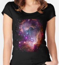 Colorful Galaxy Pattern Women's Fitted Scoop T-Shirt