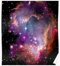Colorful Galaxy Pattern Poster