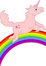 Pink Unicorn riding the Rainbow VRS2 by vivendulies