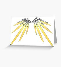Mercy Wings v2 Greeting Card
