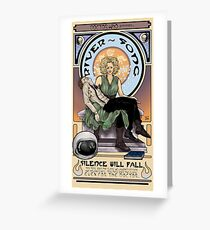Silence Will Fall: The River's Pietà Greeting Card
