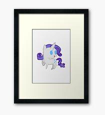 Rarity Chibi Framed Print