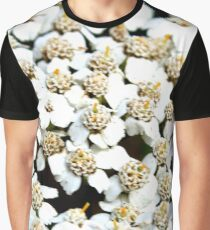 White Little Flowers Graphic T-Shirt