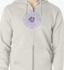 Victorian Flower Lace Zipped Hoodie