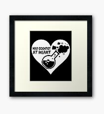 Mad Scientist at Heart Framed Print
