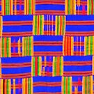 Colours of Africa (11) of a series of African Colours, KENTE by Remo Kurka
