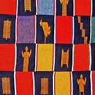 Colours of Africa (13) of a series of African Colours, KENTE of the Ashanti and Ewe in Ghana by Remo Kurka
