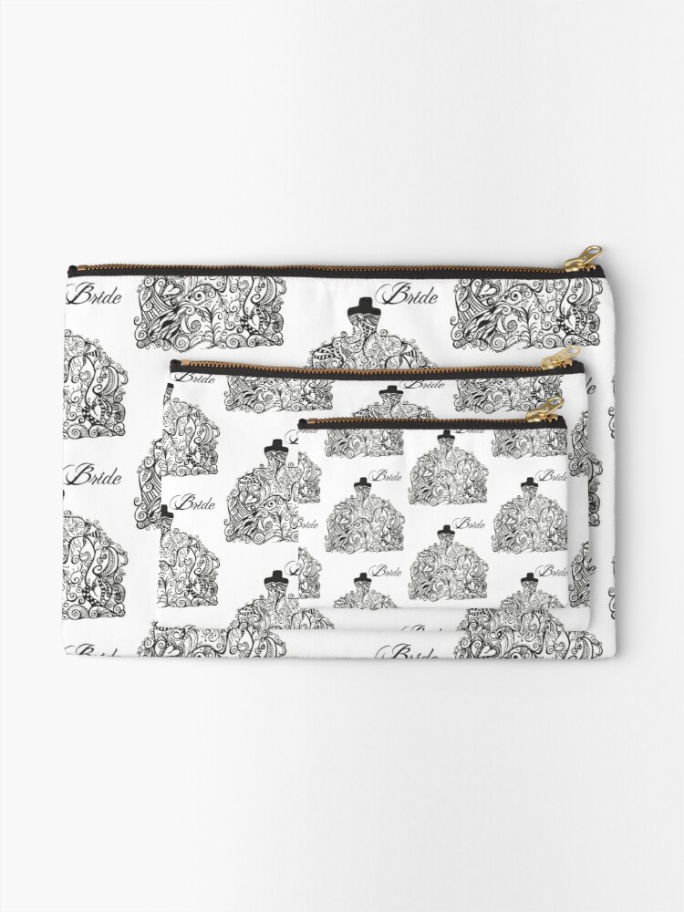 Alternate view of For the Bride! Zipper Pouch