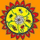 Insect Mandala by Abi Latham