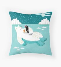 Hitching a Ride Throw Pillow