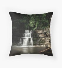 Bowlees River Waterfall Throw Pillow