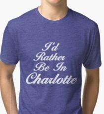 Charlotte Flair/North Carolina. wrestling Tri-blend T-Shirt