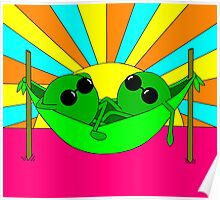 Trippy Peas in a Far Out Pod Poster
