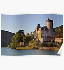 Summer light on Duingt castle Poster