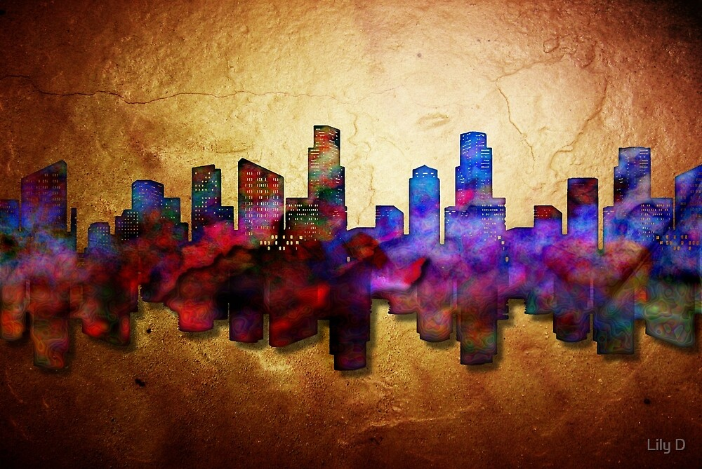 City of Boston in color splash by Art Dream Studio