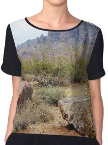 Superstition Mountain, Arizona Women's Chiffon Top