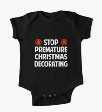 Stop Premature Christmas Decorating Kids Clothes