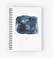 Aquarius Zodiac Constellation Spiral Notebook