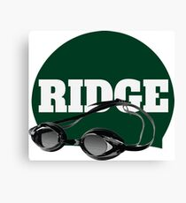 Ridge Swimming Cap and Goggles Canvas Print